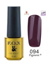 094 Гель лак FOX Masha Create (темная слива с вишней) 6ml