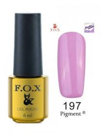 197 Гель лак FOX Masha Create (фиолетово-сиреневый) 6ml