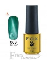 068 FOX гель лак gold Cat eye 6ml