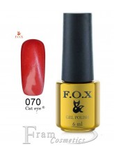 070 FOX гель лак gold Cat eye 6ml