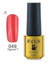 """049 гель лак FOX """"Терракотовый цвет"""" 12ml"""