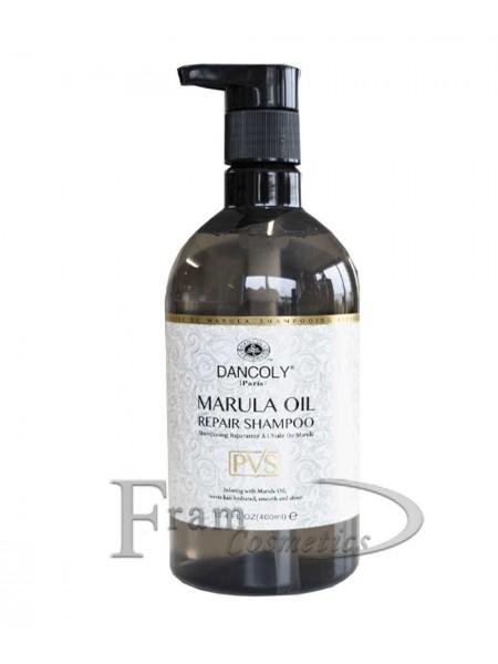 Шампунь восстановление и увлажнение поврежденных волос с маслом марулы Dancoly
