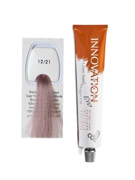 """12/21 Краска для волос BBcos Innovation """"супер светлый пепельный блонд"""""""
