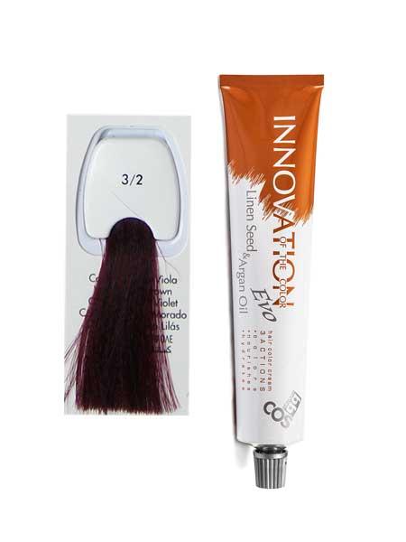 """3/2 Краска для волос BBcos Innovation """"фиолетовый темный коричневый"""""""