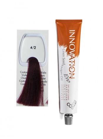 """4/2 Краска для волос BBcos Innovation """"фиолетовый натуральный коричневый"""""""