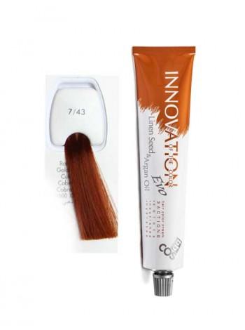 """7/43 Краска для волос BBcos Innovation """"блондин медно-золотистый"""""""