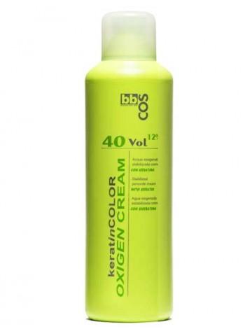 Окислитель кремообразный с кератином 40V 12%. BBcos 1L