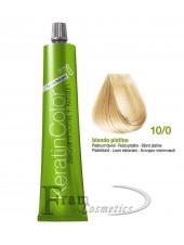 10/0 Краска для волос с кератином BBcos Keratin Color блондин платиновый