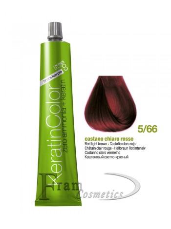5/66 Краска для волос с кератином BBcos Keratin Color каштановый светло-красный