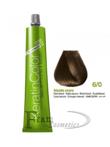6/0 Краска для волос BBcos Keratin Color темный блондин