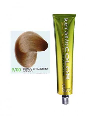 9/00 Краска для волос безаммиачная с кератином BBcos Keratin Color блондин очень светлый интенсивный