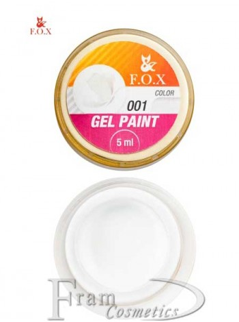 Гель краска FOX Gel paint 001 белый