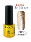 Гель лак FOX 003 Brilliance светлое золото