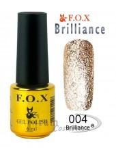 Гель лак FOX 004 Brilliance светлое золото с микрочастицами