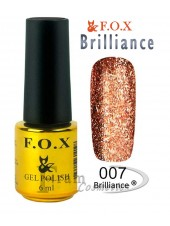 Гель лак FOX 007 Brilliance медь с блестками