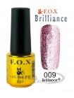 Гель лак FOX 009 Brilliance насыщенный розовый