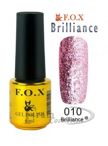 Гель лак FOX 010 Brilliance светло-пурпурный