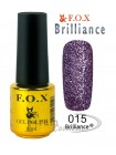 Гель лак FOX 015 Brilliance умеренный пурпурный
