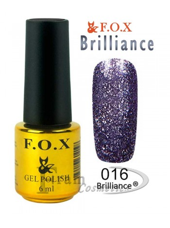 Гель лак FOX 016 Brilliance ночной синий