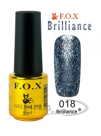Гель лак FOX 018 Brilliance голубино-синий