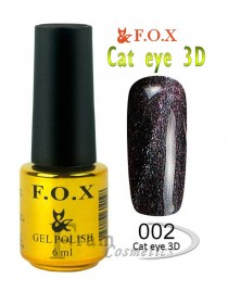 002 Гель лак FOX Cat eye 3D