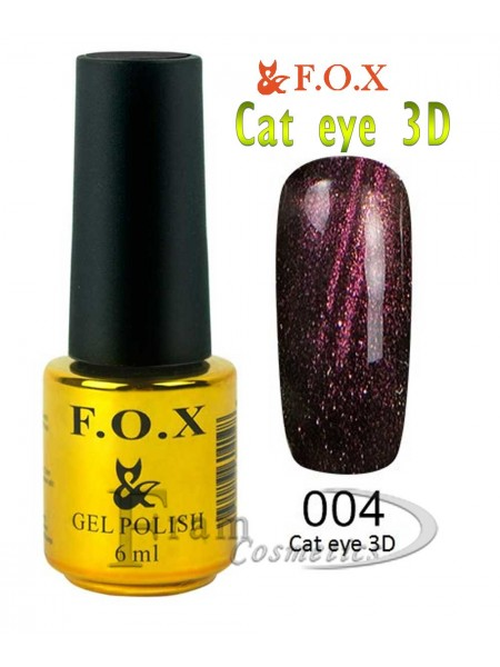 004 Гель лак FOX Cat eye 3D