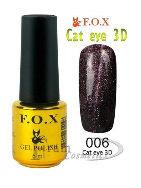 006 Гель лак FOX Cat eye 3D
