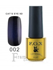 Гель лак FOX 002 Cat eye 9D ночной синий
