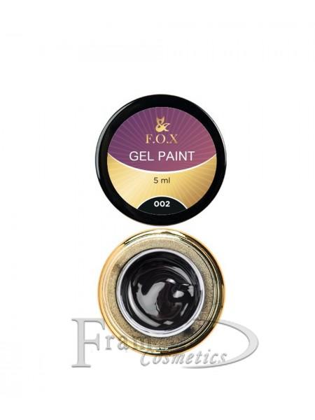 Гель краска FOX Gel paint 002 черный