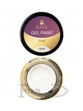 Гель краска FOX Gel paint 004 серебро