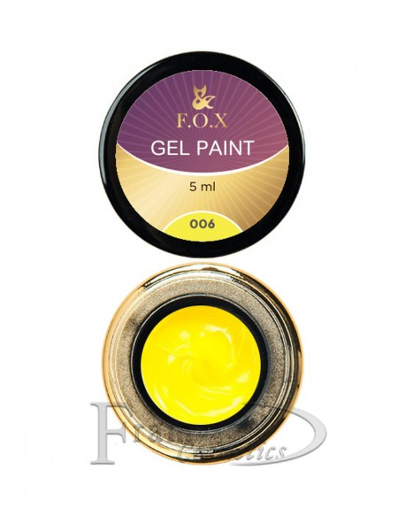 Гель краска FOX Gel paint 006 желтый
