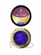 Гель краска FOX Gel paint 007 синий
