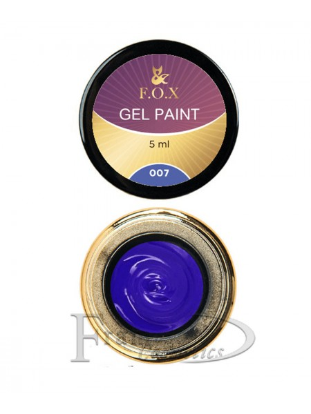 Гель краска FOX Gel paint 007 синий