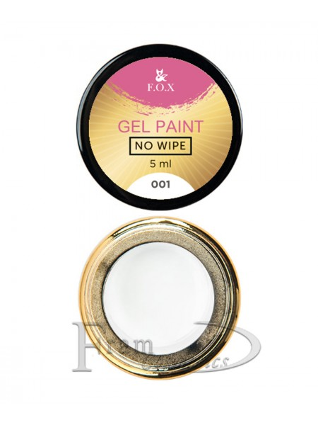 Гель-краска F.O.X Gel paint No Wipe №1 белая