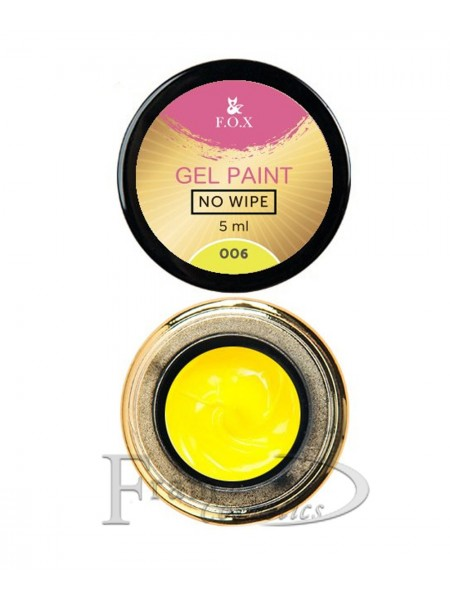 Гель-краска F.O.X Gel paint No Wipe №6 желтая