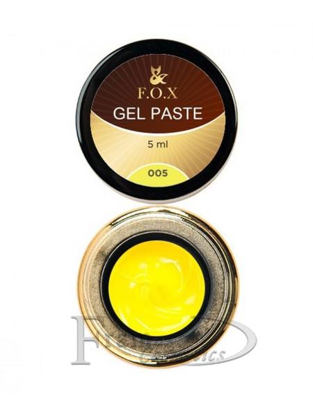 Гель-паста F.O.X Gel paste 05 желтый