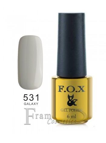 Гель лак FOX 531 Galaxy Collection светло-серый