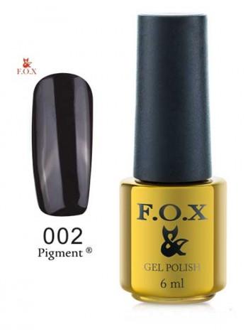 Гель лак FOX 002 gold Pigment черный