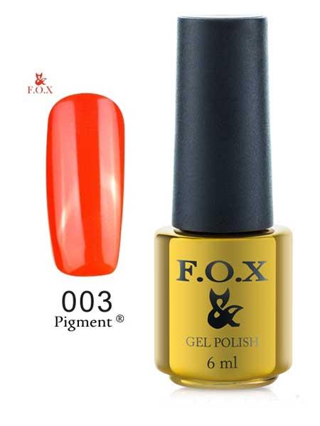 003 FOX Гель-лак Gold Pigment 6ml