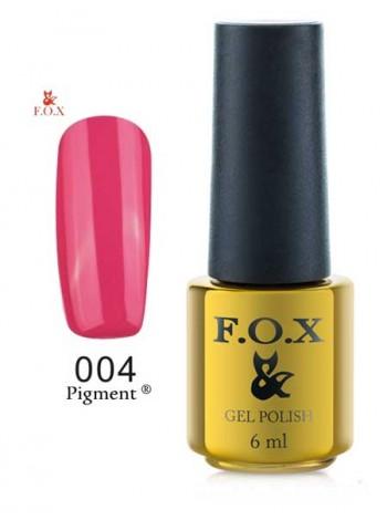Гель лак FOX 004 gold Pigment насыщенная фуксия