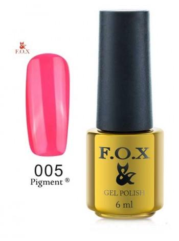 Гель лак FOX 005 gold Pigment ярко малиновый