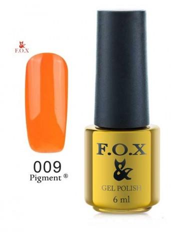 Гель лак FOX 009 оранжевый gold Pigment