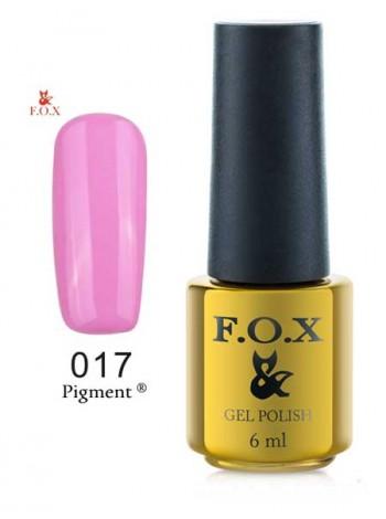 Гель лак FOX 017 gold Pigment сиренево розовый