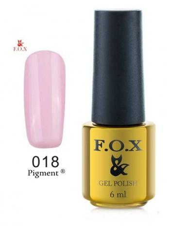 Гель лак FOX 018 Pigment холодный светло-розовый