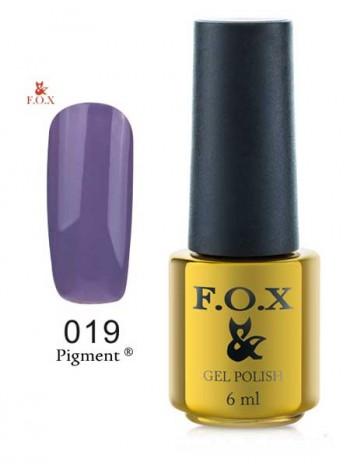 Гель лак FOX 019 gold Pigment холодно-фиолетовый