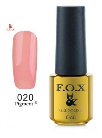 Гель лак FOX 020 Pigment темный бежевый