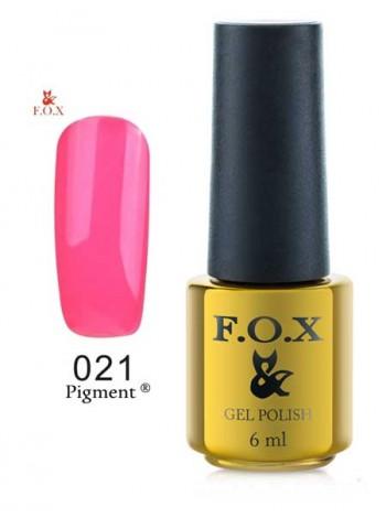 Гель лак FOX 021 gold Pigment летняя фуксия