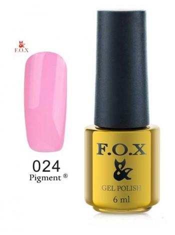 Гель лак FOX 024 gold Pigment нежно розовый