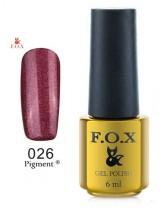 026 FOX Гель-лак gold Pigment 6ml
