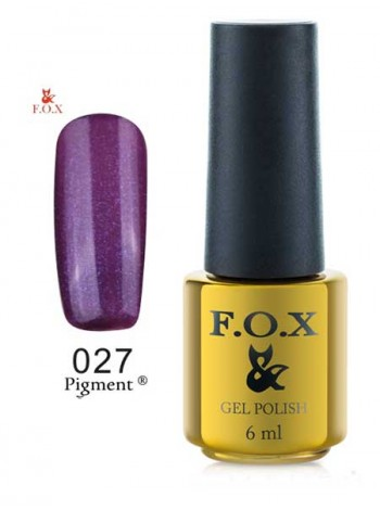 Гель лак FOX 027 gold Pigment фиолетовый